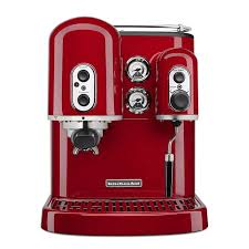 KitchenAid KES2102ER Pro Line Series 75 Cup Espresso Coffee Maker W Milk Frother Red
