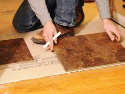Wood Floor Patching Compound by Laying A New Tile Floor How Tos Diy