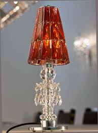 Bed Bath And Beyond Canada Lamp Shades by Windfall Chandeliers Lula Table Lamp With Red Magma Crystal