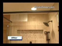 pebble tile shower installation stratastones pebble tile