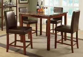 Remarkable Bar Height Round Table Set Patio Chairs Wood ...