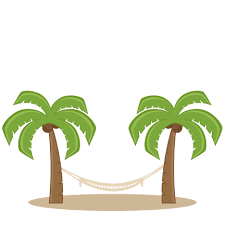 Palm Trees With Hammock SVG scrapbook cut file cute clipart files