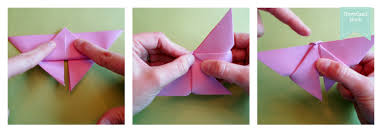 Flip Your Triangle Over So That The Point Is Now At Bottom And You Are Working With Other Side Fold Part Up Tip Of