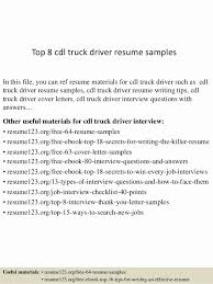 Driver Resume Examples Casual Dump Truck Sample Samples Otr Template