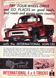 1958 Interational Harvester ASW-120 4x4 Trucks Aussie Original ... Picking Up The Pieces Of A Classic Truck Wsj Intertional Harvester Scout Trucks Hobbydb 1960 Model B Bc Bcf Sales Brochure Stock Photos Fileintertional B120 Flatbed Redjpg Wikimedia Commons The Early Years Quarto Knows Blog Mobsteel Detroit Gangstar Sema 2015 Light Line Pickup Wikipedia 1972 Pickup Tractor Cstruction Plant Wiki Fandom 1931 Truck