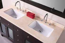 Undermount Double Faucet Trough Sink by Bathrooms Design Long Bathroom Sink With Two Faucets Small Home