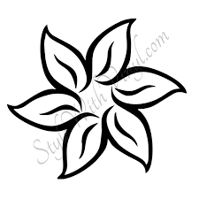 Coloring Page Unusual Idea Draw Easy Flowers Flower Drawings Simple Rose Drawing Pinterest