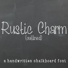 Chalkboard Font Digital Handwritten For Commercial Use Rustic Charm Outlined True Type Ttf Instant Download