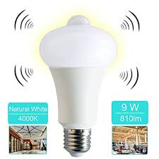 motion sensor light bulb 9w smart led light bulb