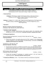 Electrical Engineer Resume Objective Apprentice Electrician Example