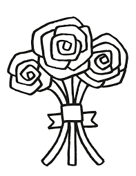 Wedding Coloring Pages Flower Bouquet