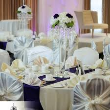Nidal And Svitlanns Ivory Purple Wedding Decor At Four Points By Sheraton In London Ontario