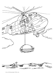 Coast Guard Helicopter More Free Printable Transportation Coloring Pages