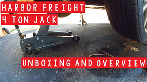 harbor freight 4 ton jack unboxing and overview youtube