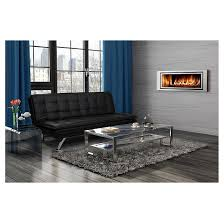 Target Room Essentials Convertible Sofa by Broadway Premium Convertible Pillowtop Futon Black Dorel Home