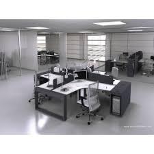 fabricant de bureau bureau opératif 90 degrés logic noir et blanc configuration 4