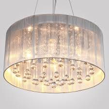 LightInTheBox Modern Silver Crystal Pendant Light in Cylinder