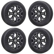 100 Xd Truck Wheels 20 NISSAN TITAN XD TRUCK BLACK CHROME WHEELS RIMS TIRES FACTORY OEM