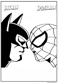 Spiderman And Batman Coloring Pages