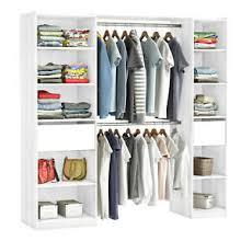 details zu kleiderschrank 5077 weiss begehbar offen garderobe schrank regal schlafzimmer