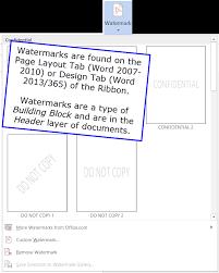 Watermarks In Word 2007 2016 CK Note