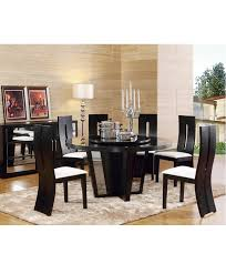 Winston Round Dining Table Set, W/Lady Susan, 7 Pcs, 20%off | CASA ... Hillsdale Fniture Monaco 5piece Matte Espresso Ding Set Glass Round Table And 4 Chairs Modern Wicker Chair 5 Pcs Gia Ebony 1stopbedrooms Room Elegant Nook Traditional Sets Cheap Kitchen Elegant Home Design Round Glass Ding Room Table And Chairs Signforlifeden Within Neoteric Design Inspiration Tables Mhwatson For Small