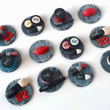 Makeup Beauty Cupcake Toppers