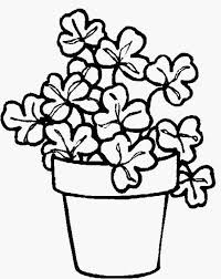 Flower Pot Coloring Pages Printable