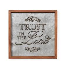 100 Lord B DANYA Inspirational Trust In The Framed Metal Art Sign
