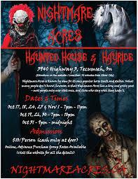 Haunted Hayride 2014 Ontario by Nightmare Acres Haunted House U0026 Hayride Windsor U0026 Essex County