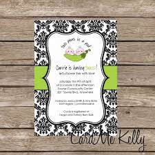 Printable Twin Triplets Peas In A Pod Boy Girl Baby Shower