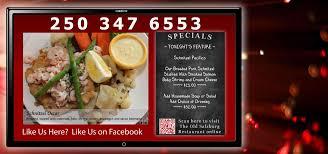 cuisine tv menut digital restaurant sign calgary digital chalk menu boards