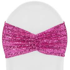 Glitz Ruffle Sequin Spandex Chair Band Sash - Fuchsia   CV Linens™ Buy Whosale Pack Of 100 Premium White Spandex Chair Covers Lavender Chiffon Curly Chair Sash Wedding Party Decorations Cover Sash Bands Lycra For Cheap For Events Crealive Plus Banquet Plum Fuzzy Fabric Sale Chair Cover Hire In West Drayton Hayes Hounslow Balloon And Ties Linen Seat And Sashes Black Purple Weddings Bridal Tablecloths And Runners Direct