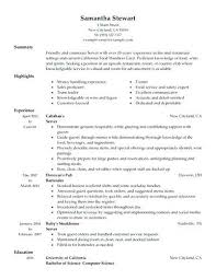 Resume Sample Of Restaurant Manager Related Post