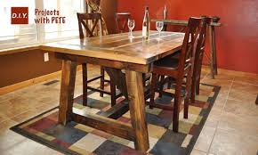How To Build A Rustic And Captivating Diy Dining Room Table Plans