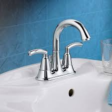 Fluid Faucets Single Lever by Tropic 2 Handle 4 Inch Centerset High Arc Bathroom Faucet
