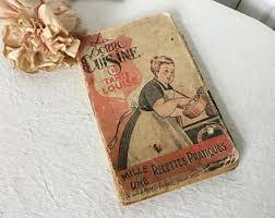 vieux livre de cuisine cuisine etsy fr