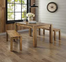 3 Piece Kitchen Table Set Walmart by Better Homes And Gardens Bryant 3 Piece Dining Set Rustic Wood