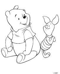 Full Image For Winnie The Pooh Coloring Pages Baby Pdf