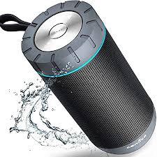 comiso wasserdicht bluetooth lautsprecher kabellose portabler 12w lautsprecher box mit 20 stunden spielzeit dual treiber wireless speakers mit