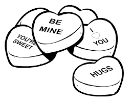 Conversation Heart Printable Clip Art And Coloring Pages