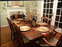 Fall Dining Room Table Decorating Ideas Living Decor Awesome Round Glass Top