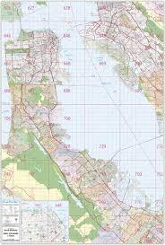 San Francisco CA Wall Map By Thomas Brothers Maps