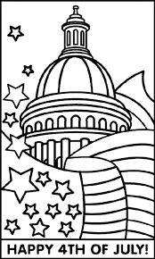 Download Fourth Of July Coloring Page