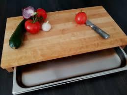 details zu holzschneidbrett mit auffangschalen birke brückenschneidbrett holzbrett küche