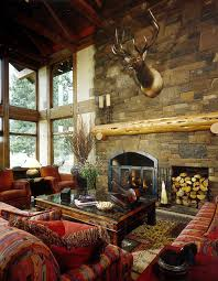Living Room Fireplace Rustic Living Room Portland by MCM