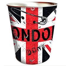 poubelle bureau enfant poubelle de bureau en métal drapeau anglais amazon fr cuisine