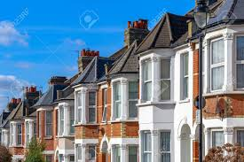 100 Houses In Hampstead Row Of Typical English Terraced Houses In West London