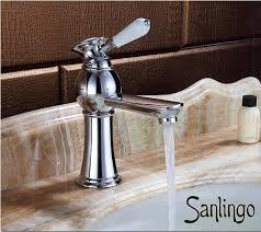 rétro salle de bains lavabo robinet mitigeur levier unique chrome