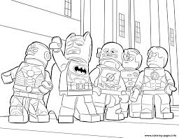 Lego Batman Ironman Flash Coloring Pages
